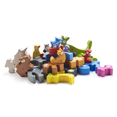 Puzzle and Playset | Animal Parade A to Z