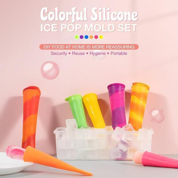 Colorful Silicone Ice Pop Mold Set