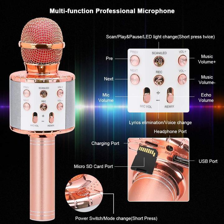 Wireless Portable Handheld Bluetooth Karaoke Microphone