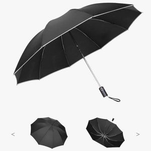 (Holiday Sale - 50% Off) Foldable Reversible Automatic Umbrella (Reflective Strips)