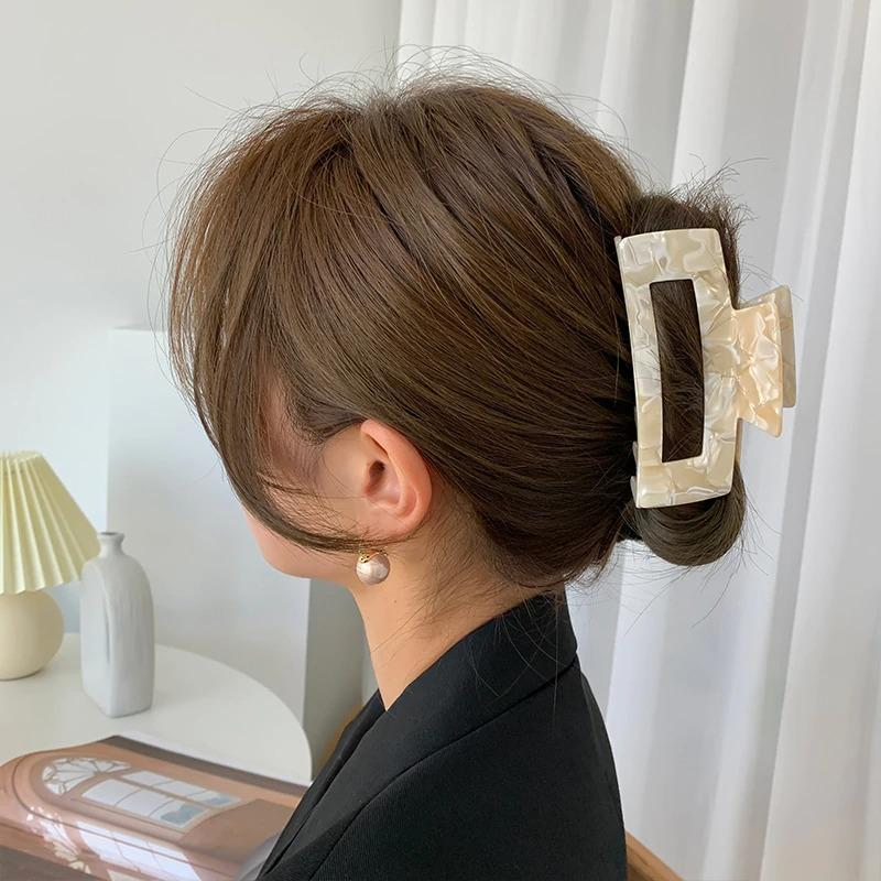 Large Geometric Hair Clips