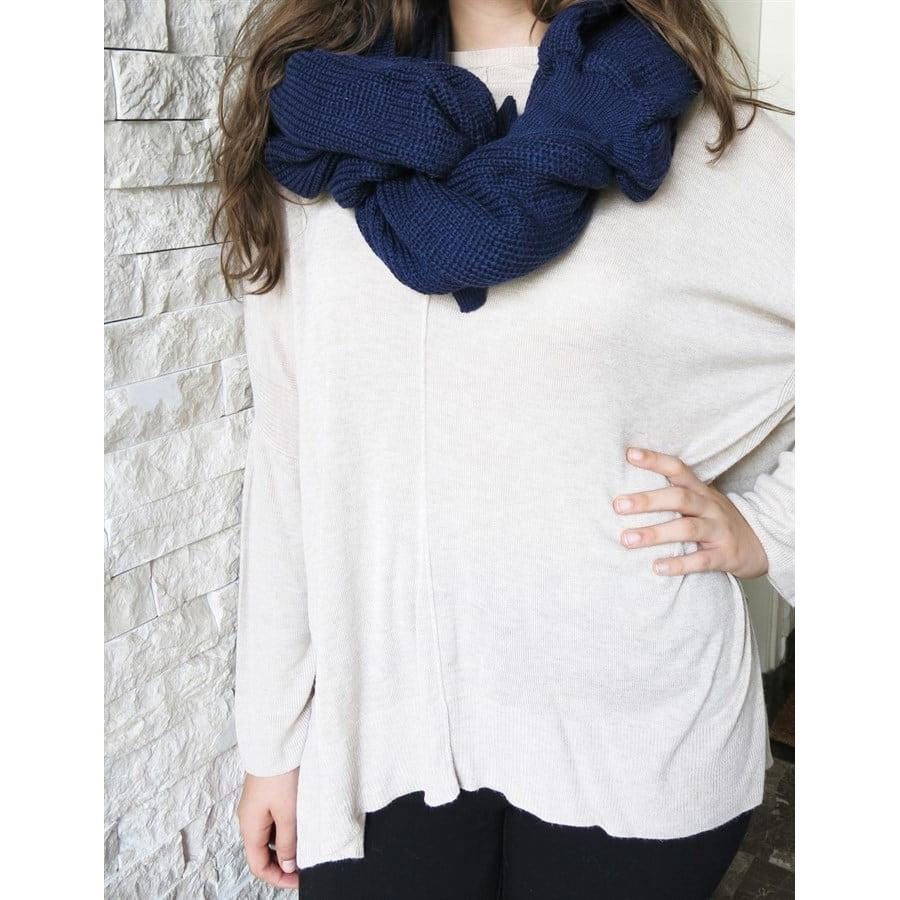 Convertible Scarf Sweater