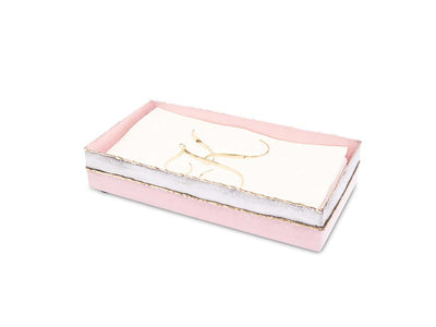 "Cascade 9"" Guest Towel Tray Pink Lace"
