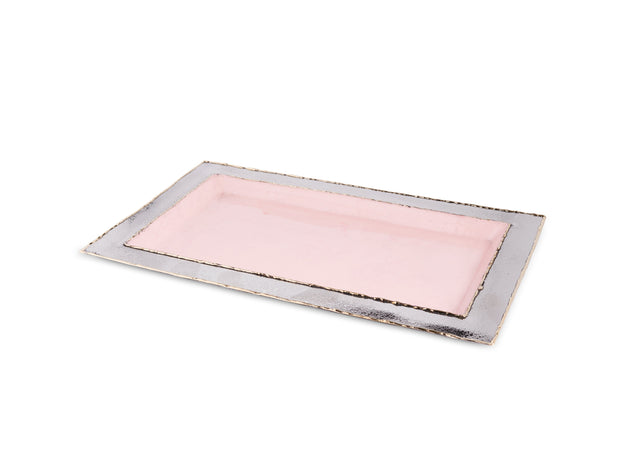 "Cascade 12"" Vanity Tray Pink Lace"