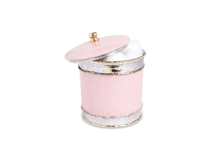 "Cascade 5.5"" Covered Canister Pink Lace"