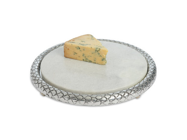 "Florentine 11"" Marble Cheese Tray"