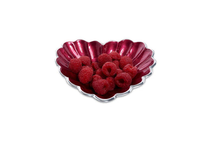 "Heart 7"" Bowl Pomegranate"