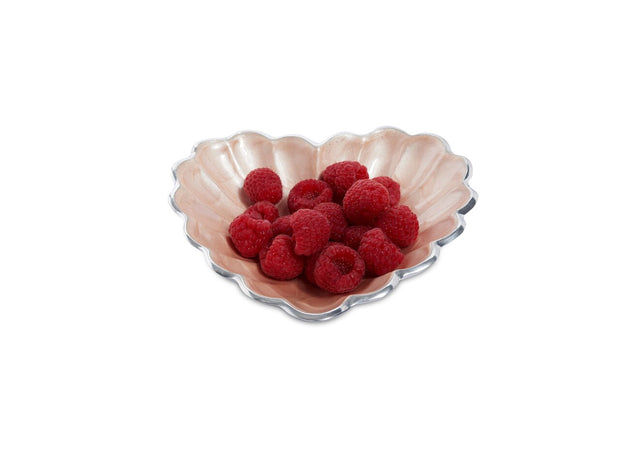 "Heart 7"" Bowl Pink Ice"