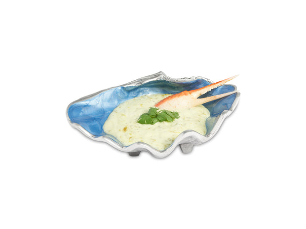 "Tahitian Clam Shell 8"" Bowl Azure"
