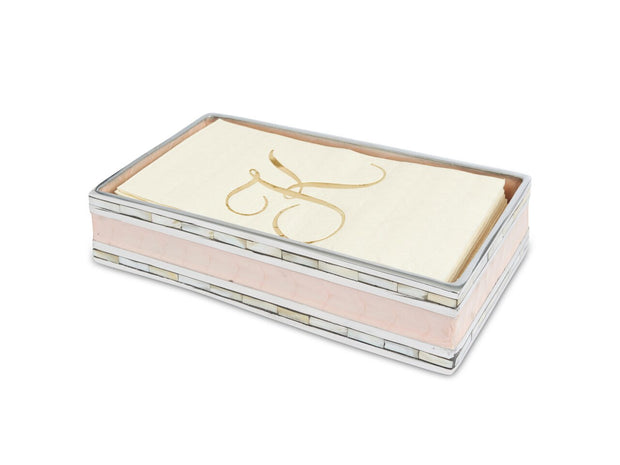 "Classic 9"" Guest Towel Tray Pink Ice"