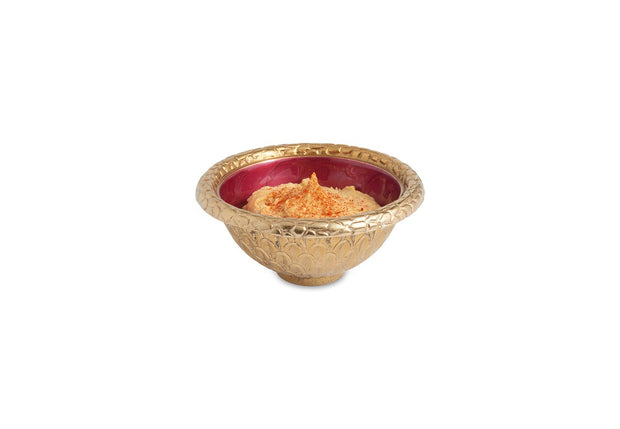 "Florentine 4.25"" Round Bowl Gold Pomegranate"