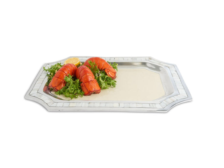 "Classic 20"" Octagonal Tray Snow"