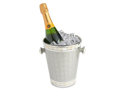 "Classic 8"" Ice Bucket/ Wine Chiller Platinum"