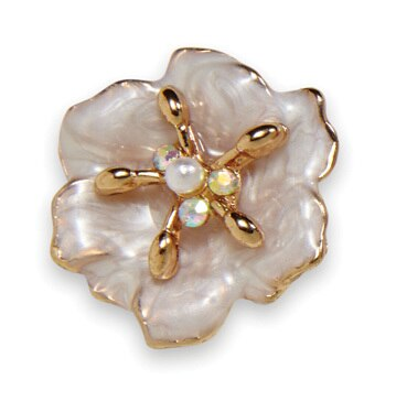 Dogwood Blossom Earring Gold Snow