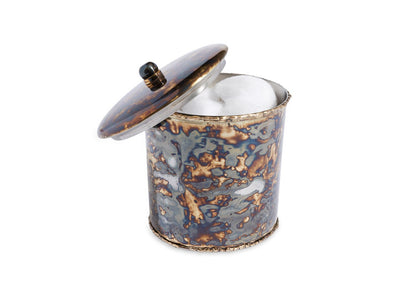 "Cascade 5.5"" Covered Canister Rainbow Bronze"