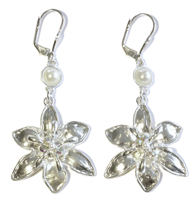 Lily Drop Earring Silver