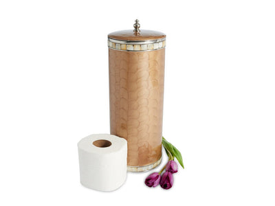 Classic Toilet Tissue Covered Holder Toffee