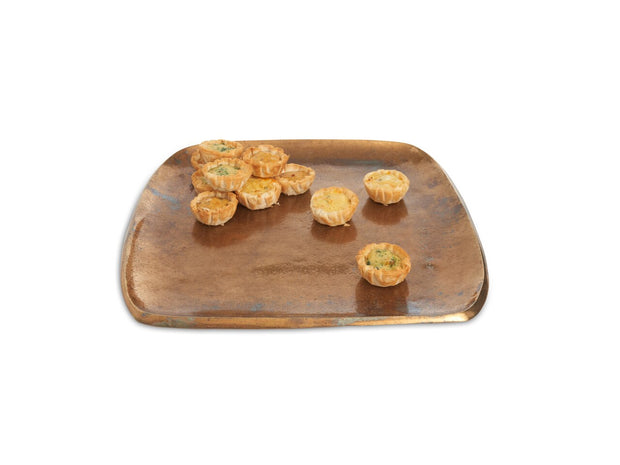 "Eclipse 12"" Stackable Square Tray Bronze"