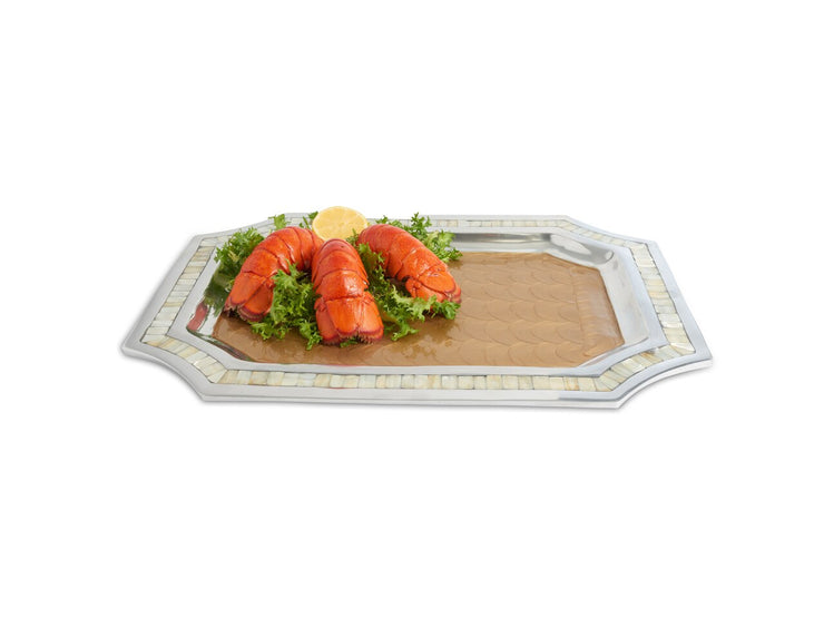 "Classic 20"" Octagonal Tray Toffee"