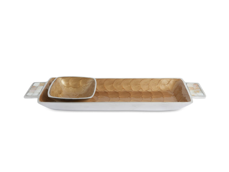 "Classic 14.5"" Petite Bowl Tray Toffee"