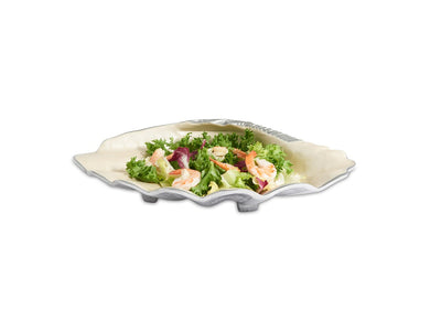 "Tahitian Clam Shell 17.5"" Bowl Snow"