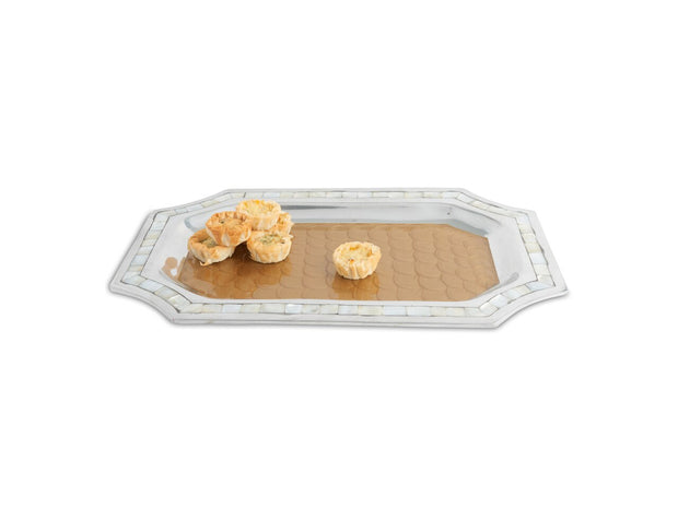 "Classic 16"" Octagonal Tray Toffee"