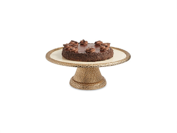 "Florentine 14"" Pedestal Server Gold Snow"