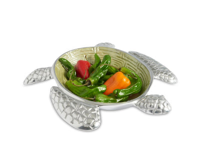 "Sea Turtle 10"" Bowl Kiwi"