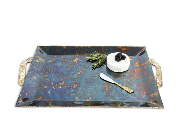 "Sierra 20"" Rectangular Tray Rainbow Bronze"