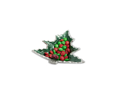"Holly Sprig 6.25"" Petite Tree Bowl Emerald"