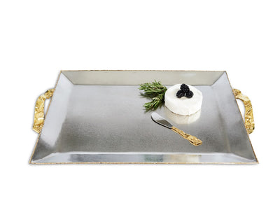 "Sierra 20"" Rectangular Tray Frosted"