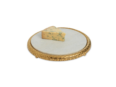 Florentine Gold 11 inch Marble Cheese Tray