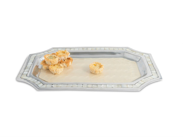 "Classic 16"" Octagonal Tray Snow"