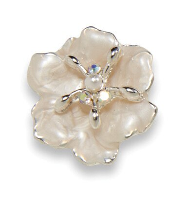 Dogwood Blossom Earring Silver Snow