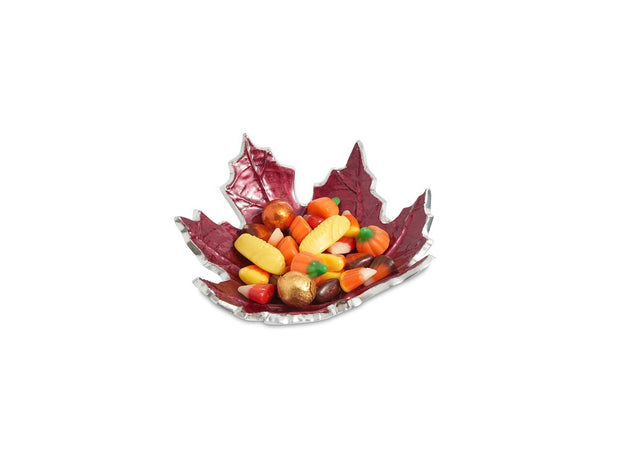 "Maple Leaf 6"" Petite Bowl Pomegranate"
