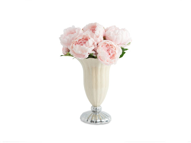 "Peony 15"" Pure Color Vase Snow"
