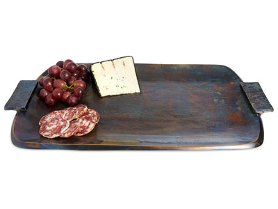 "Eclipse 21"" Rectangular Tray with Handles Bronze"