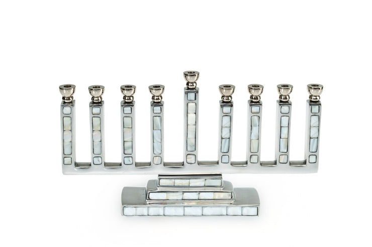 Classic Menorah Mother of Pearl