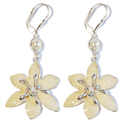 Lily Drop Earring Silver Snow