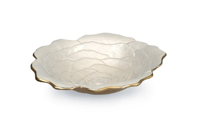 "Rose 15"" Bowl Gold Snow"