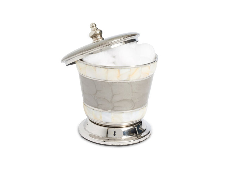 "Classic 5.5"" Covered Canister Platinum"
