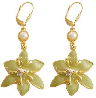 Lily Drop Earring Gold Kiwi