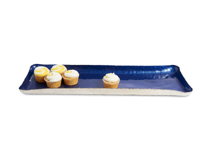 "Cascade 17"" Rectangle Tray Cobalt"