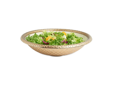 "Florentine 15"" Round Bowl Gold Snow"