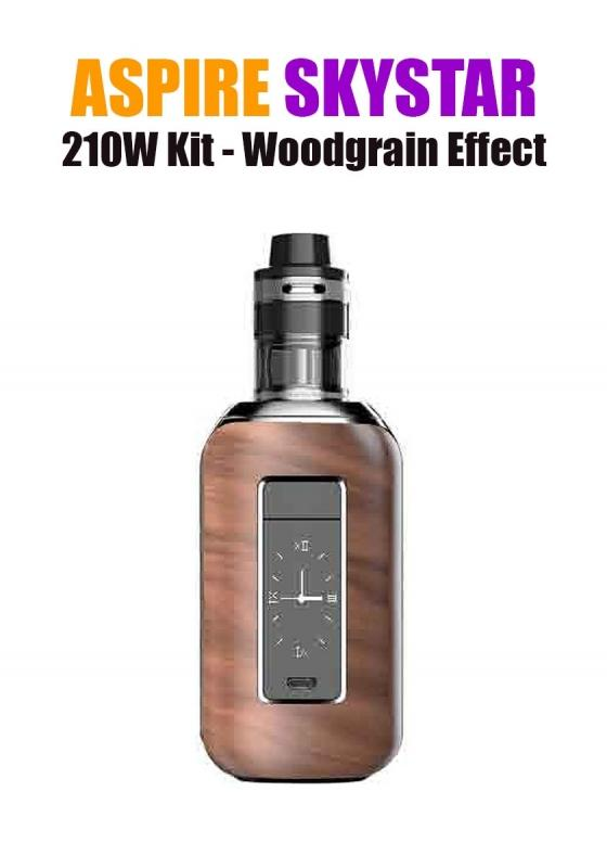 Aspire SkyStar Revvo Kit (210W 3.6ML 0.10/016ohm) - Woodgrain Effect