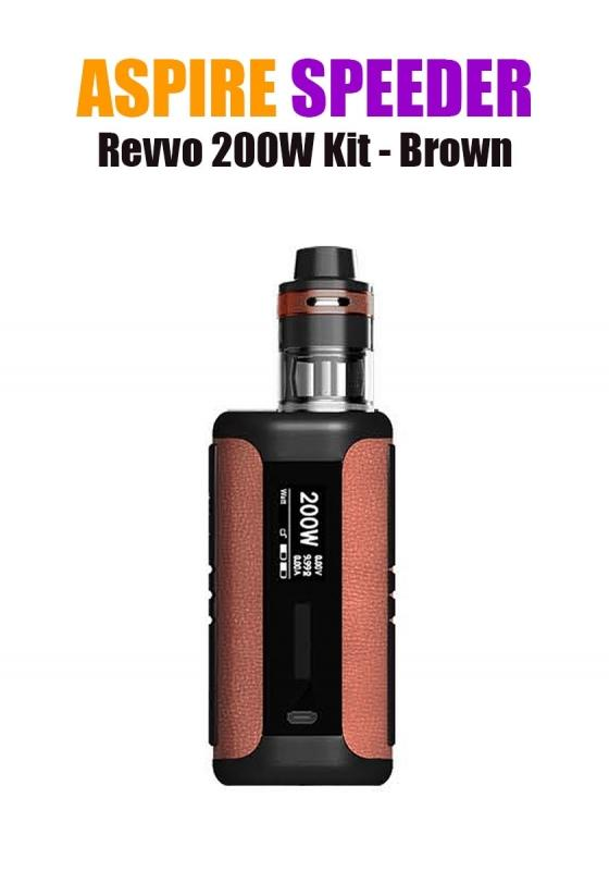 Aspire Speeder Revvo Kit (200W 3.6ML 0.10/0.16ohm) - Brown