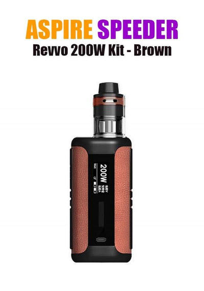 Aspire Speeder Revvo Kit (200W 3.6ML 0.10/0.16ohm)-Hardware-Aspire Vape Co.-Brown-eJuices.com