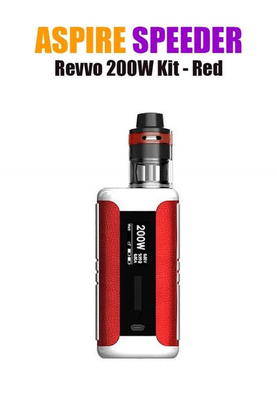Aspire Speeder Revvo Kit (200W 3.6ML 0.10/0.16ohm)-Hardware-Aspire Vape Co.-Red-eJuices.com