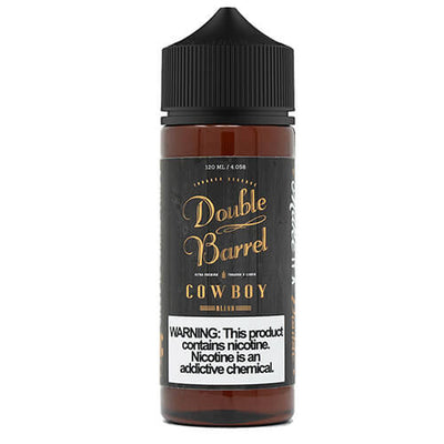 Double Barrel Tobacco Reserve - Cowboy-eJuice-Double Barrel Tobacco Reserve-120ml-0mg-Plastic-eJuices.com