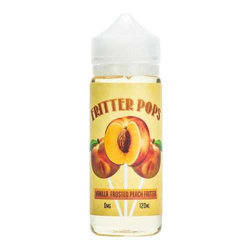 Fritter Pops eJuice - Vanilla Frosted Peach Fritter - 120ml / 3mg